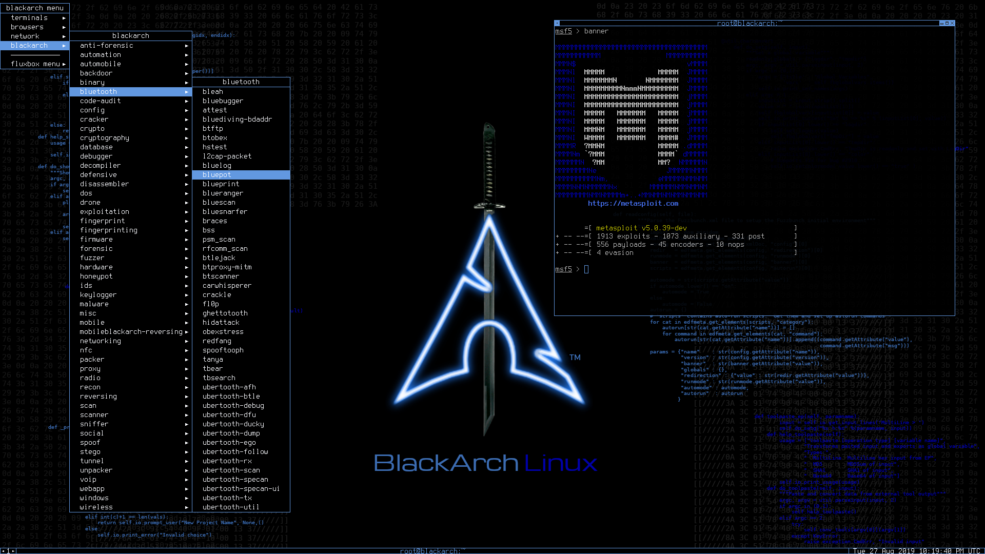 BlackArch Linux with fluxbox