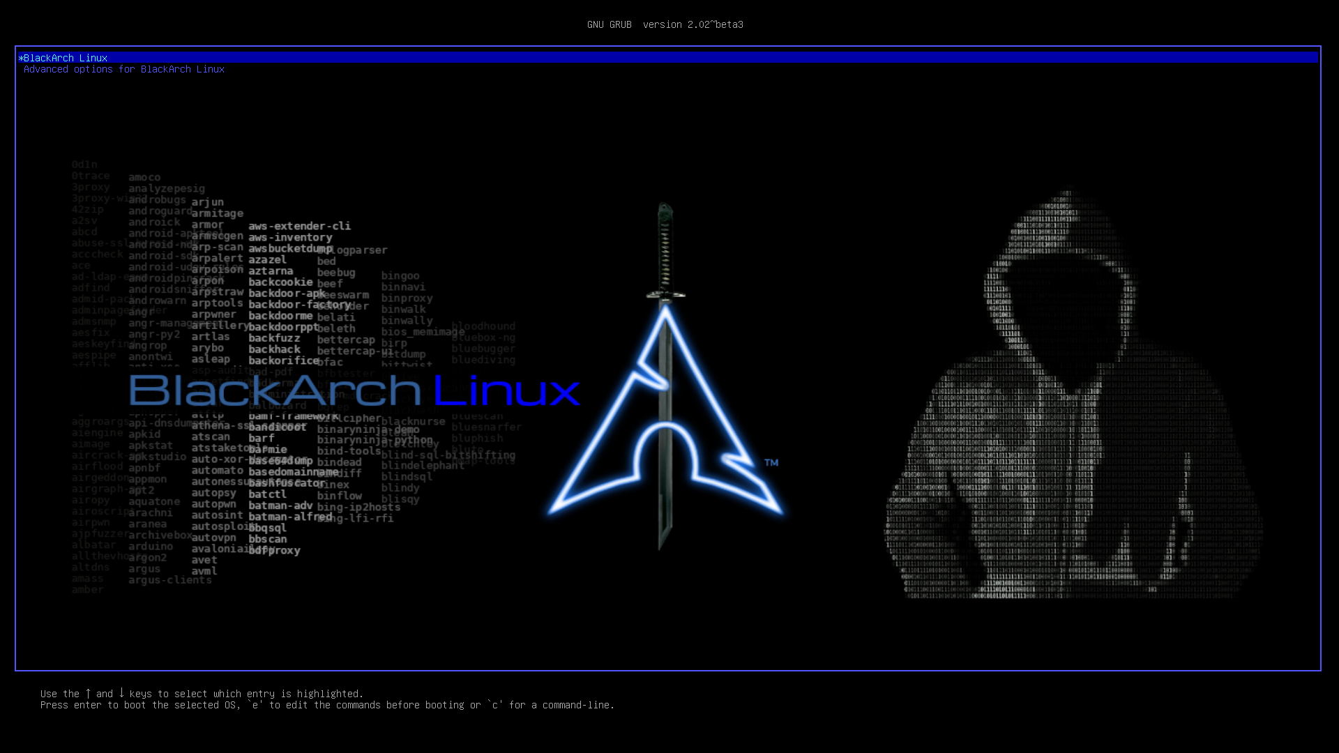 BlackArch Linux Grub