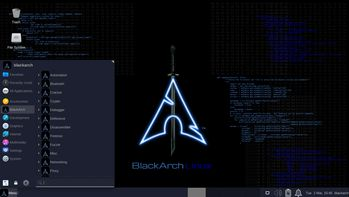 BlackArch Linux Slim menu
